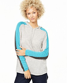 Cashmere Pop Stripe Hooded Sweater, Created for Macy's