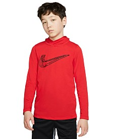 Nike Big Boys Breathe Dri-FIT Long Sleeve Hooded Training Top