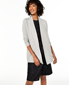 Charter Club Cashmere Sequin-Trim Completer Sweater, Regular & Petite, Created for Macy's