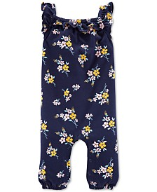 Carter's Baby Girls Floral-Print Cotton Jumpsuit