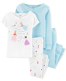 Carter's Baby Girls 4-Pc. Cotton Princess Pajama Set