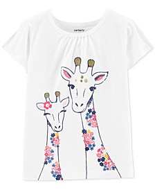 Baby Girls Giraffe-Print Cotton T-Shirt