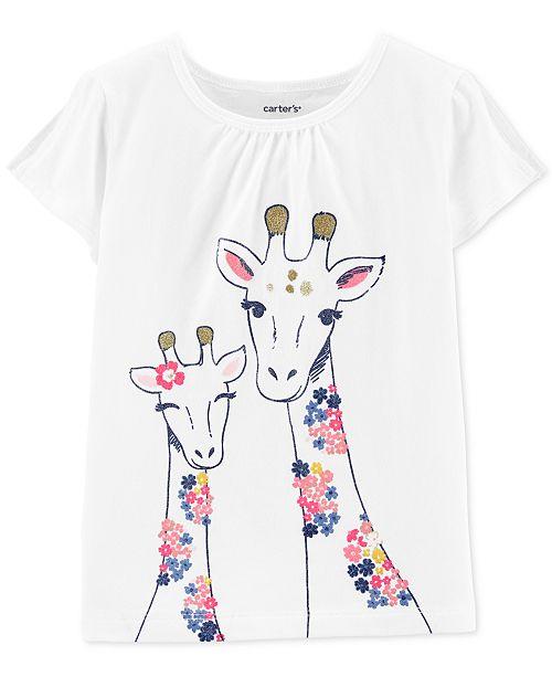 Carter's Baby Girls Giraffe-Print Cotton T-Shirt