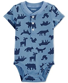 Baby Boys Woodland-Print Cotton Bodysuit
