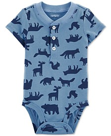 Carter's Baby Boys Woodland-Print Cotton Bodysuit