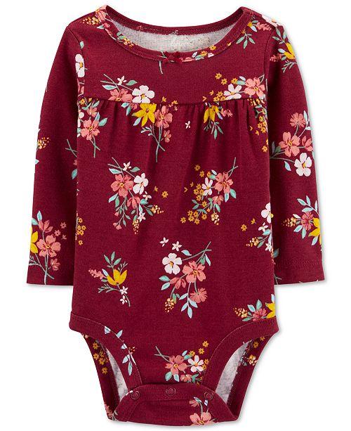 Carter's Baby Girls Floral-Print Cotton Bodysuit
