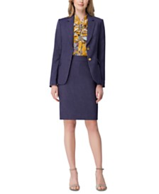 Tahari ASL Denim Jacket & Pencil Skirt