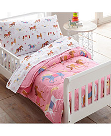 Wildkin's Horses 4 Pc Bed in a Bag - Toddler
