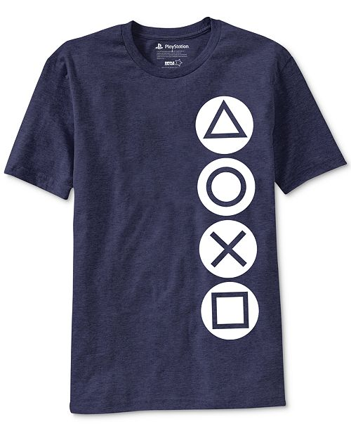 Ripple Junction PlayStation Buttons Men's Graphic T-Shirt