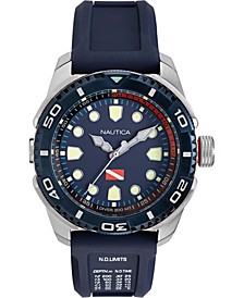 Men's NAPTDS902 Tarpoon Dive Blue/Silver Silicone Strap Watch