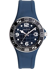 Men's NAPLBS901 Lummus Beach Blue/Black Silicone Strap Watch