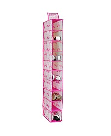 Kids 10 Shelf Hanging Shoe Organizer in Pretty Flamingo