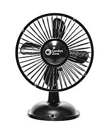 Cz5Usbbk Battery/Usb Oscillating Desk Fan