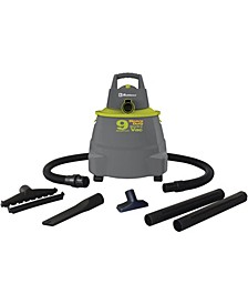 Wd-9K Wet/Dry Vacuum Cleaner With 9-Gallon Tank