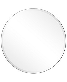 "Frameless Beveled Round Wall Mirror - 30"" x 30"""