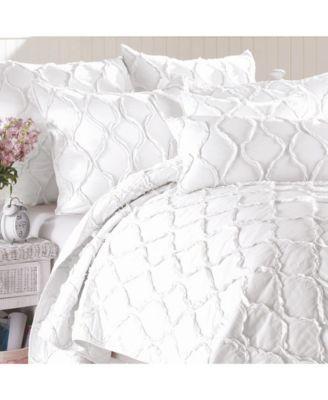Cotton 3-Piece Quilt Set, King