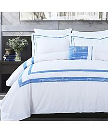 Cotton 4-Piece Down Alternative Comforter Set, Full/Queen