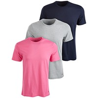 3-Pack Tommy Hilfiger Men's Cotton T-Shirts (Bright Rose / Spiced Coral)
