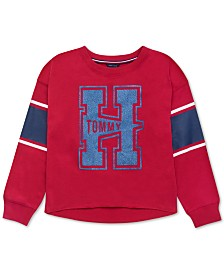 Tommy Hilfiger Baby Girls Logo-Print Varsity Sweatshirt