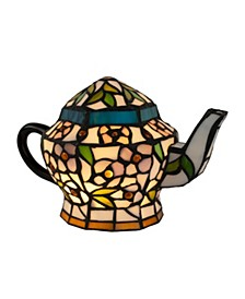 Teapot Lamp-Tiffany Style Stained Glass Table Lamp
