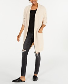 Say What? Juniors' Open-Front Textured Cardigan
