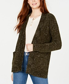 Hippie Rose Juniors' Chenille Pocket Cardigan