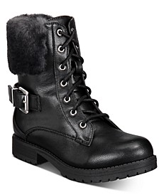 Little and Big Girls Short Lace-Up Boots