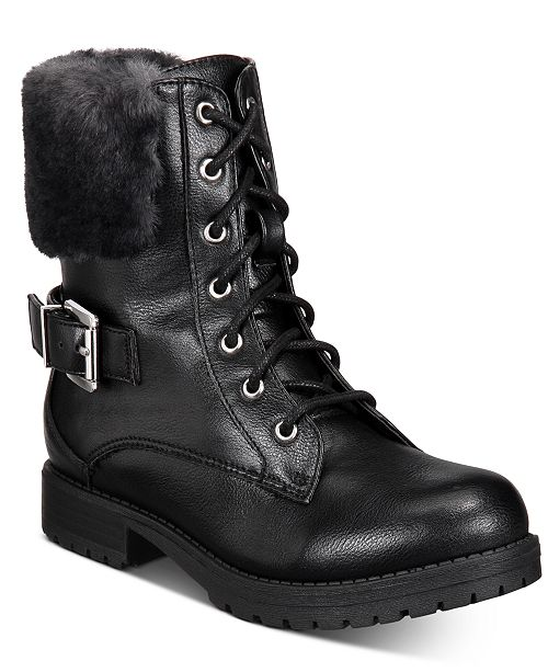 Sugar Little and Big Girls Short Lace-Up Boots