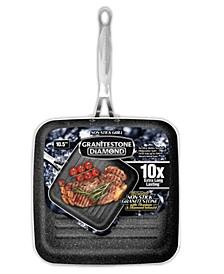 """Titanium Non-Stick Coating Mineral Infused 10.5"""" Grill Pan"""