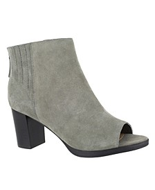 Lex Open Toe Booties