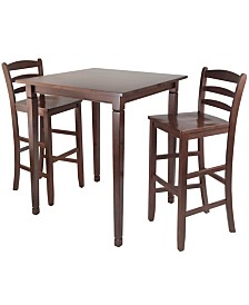 Winsome Wood 3-Piece Kingsgate High/Pub Dining Table with Ladder Back High Chair
