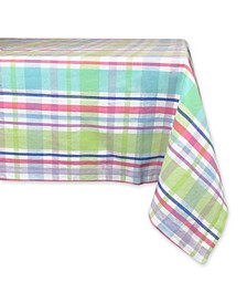 "Spring Plaid Tablecloth 60"" x 84"""