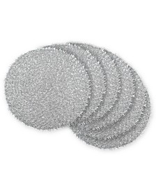 Round Woven Tinsel Placemat, Set of 6