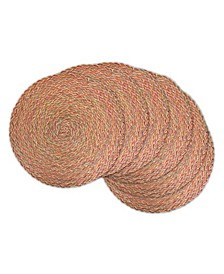 Variegated Round Braided Placemat, Set of 6