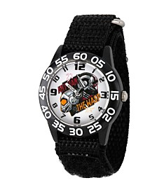 EwatchFactory Boy's Marvel's Ant-Man And The Wasp Black Plastic Time Teacher Strap Watch 32mm