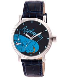 Men's Disney Aladdin Genie Blue Strap Watch 44mm