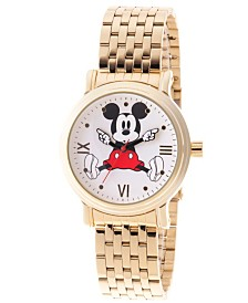 EwatchFactory Women's Disney Mickey Mouse Gold Bracelet Watch 38mm