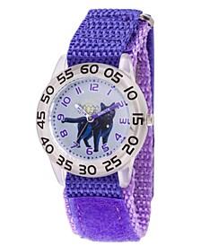Boy's Marvel Goose Captain Marvel Purple Plastic Time Teacher Strap Watch 32mm