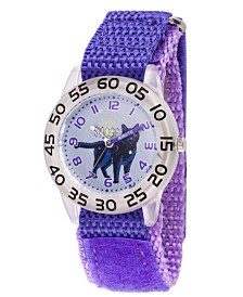 EwatchFactory Boy's Marvel Goose Captain Marvel Purple Plastic Time Teacher Strap Watch 32mm