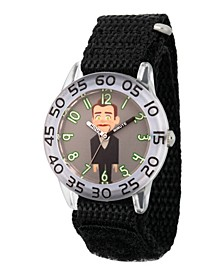 Boy's Disney Toy Story 4 Dummy Black Plastic Time Teacher Strap Watch 32mm