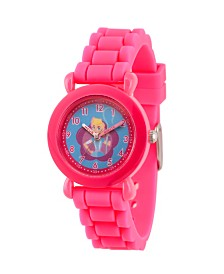 EwatchFactory Girl's Disney Toy Story 4 Bo Peep Pink Plastic Time Teacher Strap Watch 32mm