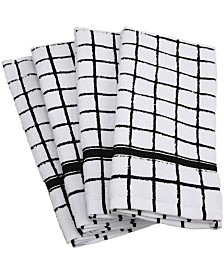 Windowpane Terry Dishtowel, Set of 4