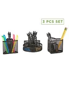 Mind Reader 3 Piece Office Supplies Storage Organizer