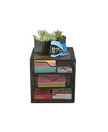 Mind Reader Mesh Mini 3 Tier Drawer Organizer