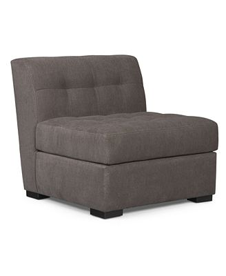 roxanne fabric armless living room chair, created for macy's