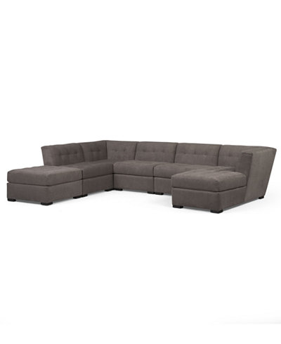 Macys Sectional Sofa Closeout Harper Fabric 6 Piece