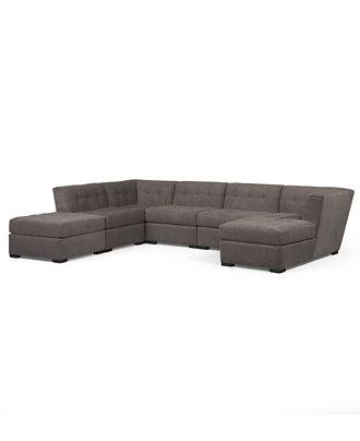 roxanne fabric 6 piece modular sectional sofa corner unit