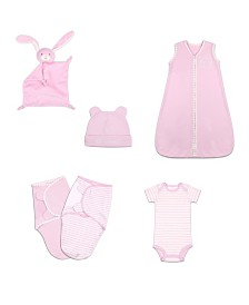The Peanutshell Baby Unisex Essentials Gift Set, 6-Piece
