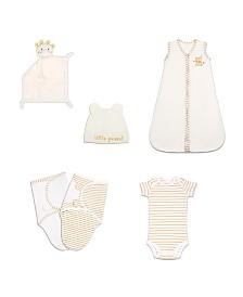 The Peanutshell Baby Unisex Essentials Gift Set, 6-Piece