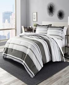 Perry Ellis Rowan Stripe King Comforter Set